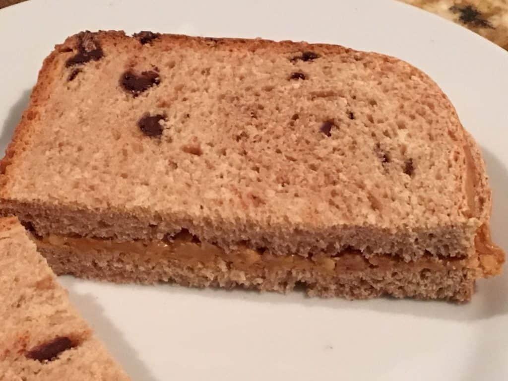 Peanut Butter Chocolate Chip Bread Sandwich