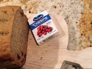 Bread Machine - Cranberry Banana Bread