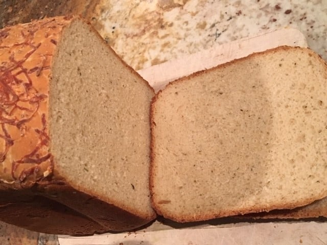Sliced Bread Machine Cheese Bread
