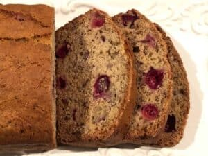 easy cranberry banana bread