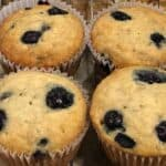 Easy Blueberry Banana Muffins