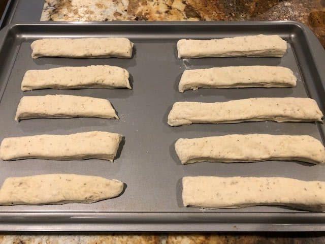 Cut Dough into Strips