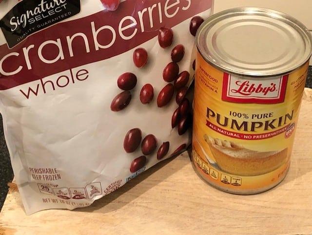 Cranberries & Pumpkin Puree