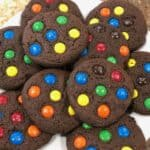 M&M Chocolate Cookies
