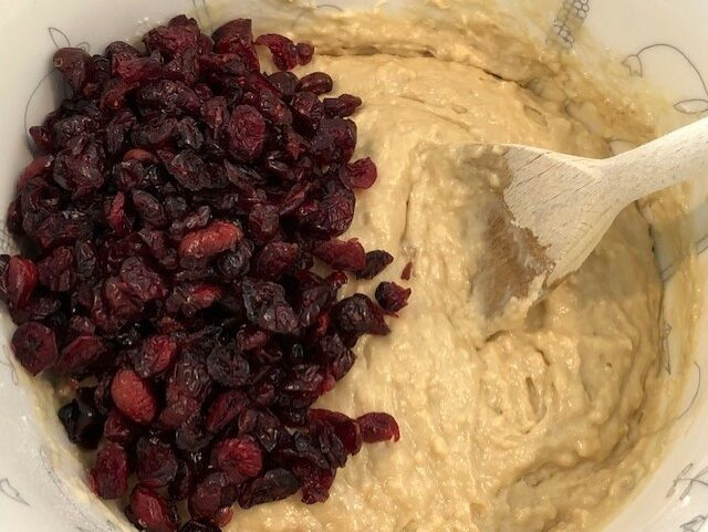 Adding Cranberries to Batter