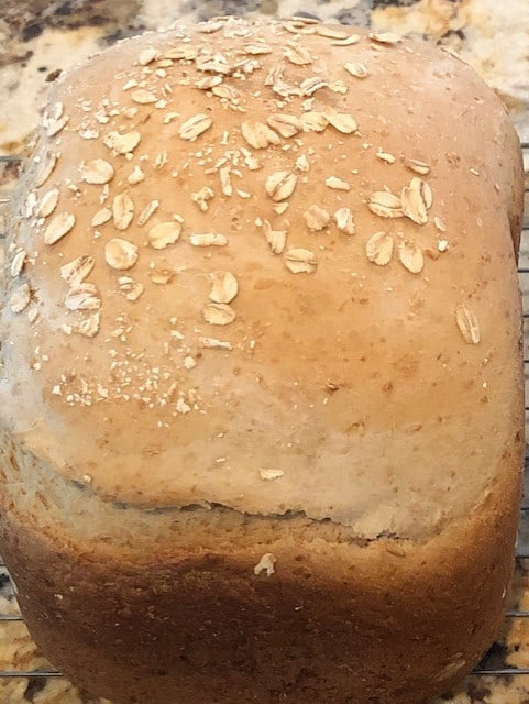 Bread Machine Oatmeal Bread