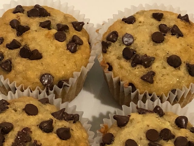 chocolate chip banana bread muffins