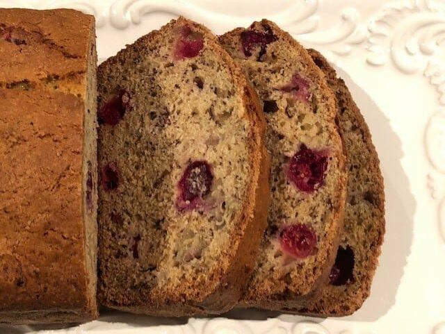 easy cranberry banana bread