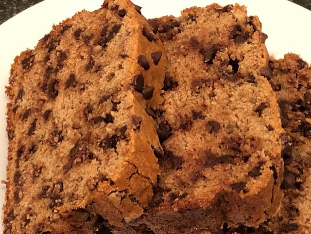 No Butter Chocolate Chip Banana Bread