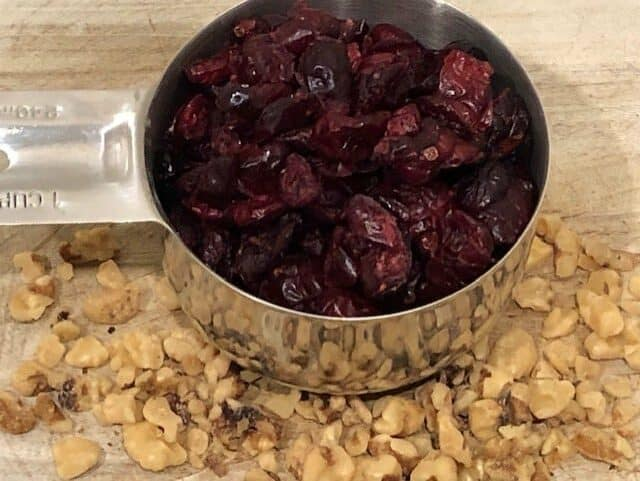 Dried Cranberries & Chopped Walnuts