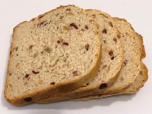 Bread Machine Cranberry Bread